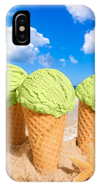 Cosmetic iPhone Case - Thee Minty Icecreams by Amanda Elwell