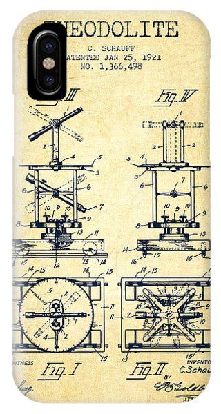 Theodolite Patent From 1921- Vintage IPhone Case