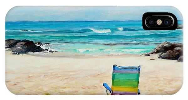 Beach Chair iPhone Case - Therapy by Mary Giacomini