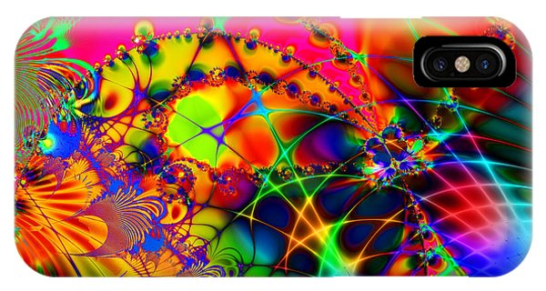 Julia Fractal iPhone X Case - There Are Places I Remember 20130510 by Wingsdomain Art and Photography