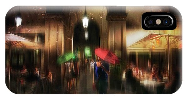 Umbrella iPhone Case - There Is Something In The Rain... by Charlaine Gerber