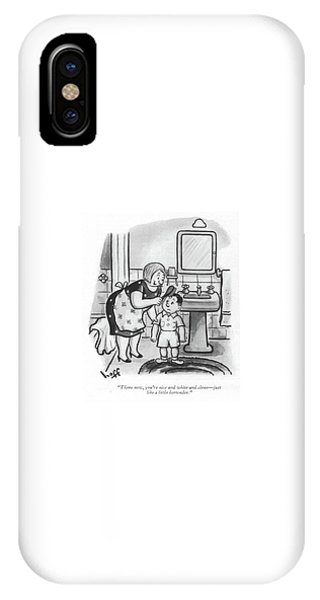Pub iPhone Case - There Now, You're Nice And White And Clean - by Sydney Hoff