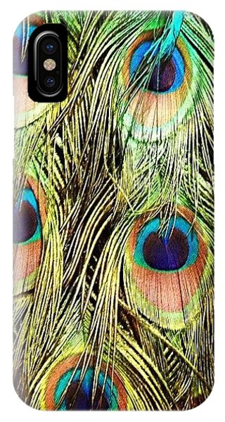Animals iPhone Case - Peacock Feathers by Blenda Studio