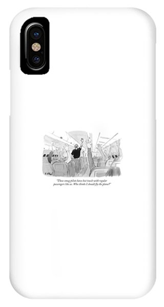 Election iPhone Case - These Smug Pilots Have Lost Touch With Regular by Will McPhail