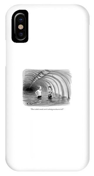 Bone iPhone Case - These Whale Sounds Aren't Calming Me Down At All by Will McPhail