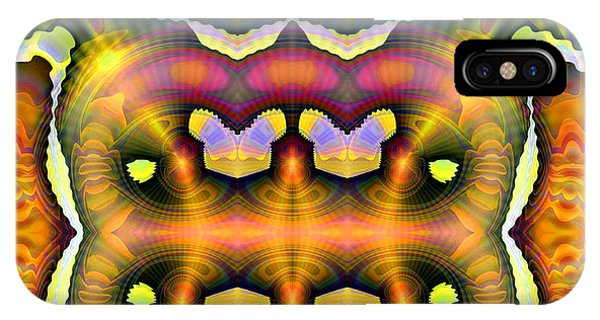IPhone Case featuring the digital art They Are Here by Visual Artist Frank Bonilla