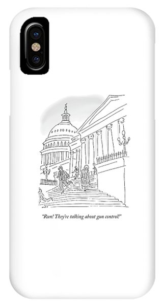 Capitol Building iPhone Case - They're Talking About Gun Control by Kim Warp