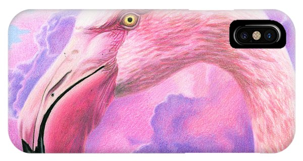 Think Pink Flamingo IPhone Case