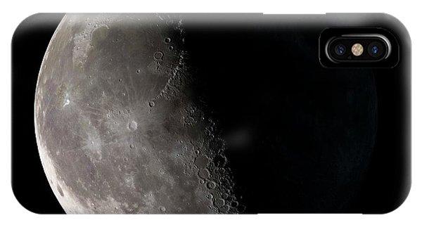 Half Moon iPhone Case - Third Quarter Moon by Nasa/gsfc-svs/science Photo Library