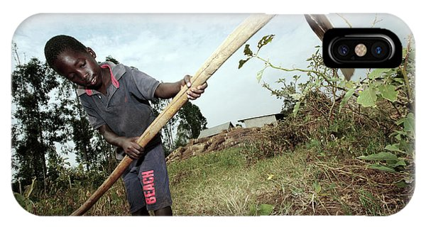 Farm Tool iPhone Case - Third World Agriculture by Mauro Fermariello/science Photo Library