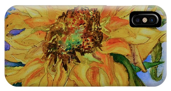 Violet Flame iPhone Case - This Here Sunflower by Beverley Harper Tinsley