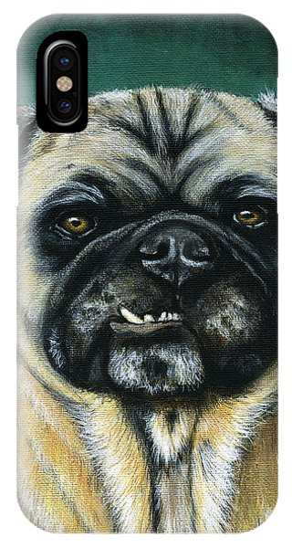 This Is My Happy Face - Pug Dog Painting IPhone Case