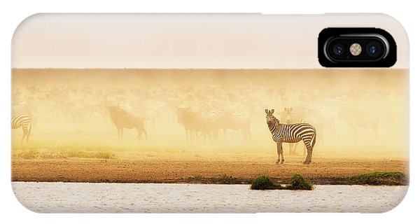 Dust iPhone Case - This Is Ndutu by Mohammed Alnaser