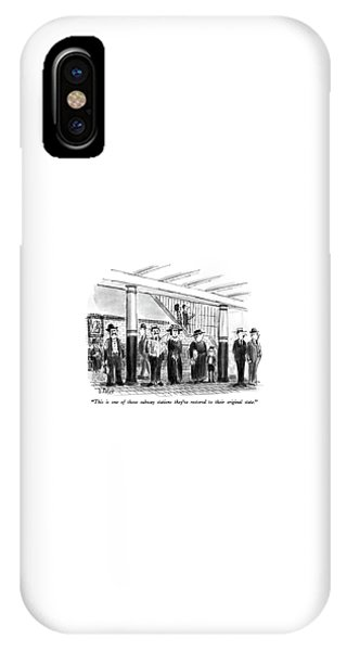 This Is One Of Those Subway Stations They've IPhone Case