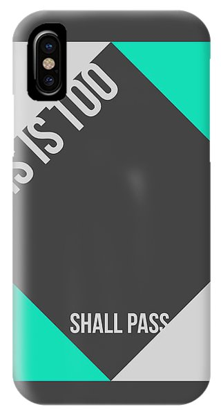 Quote iPhone Case - This Is Too Shall Pass Poster by Naxart Studio
