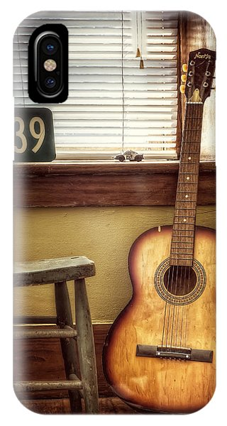 Wood Floor iPhone Case - This Old Guitar by Scott Norris