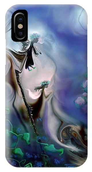 Thistle Fairies In Blue IPhone Case