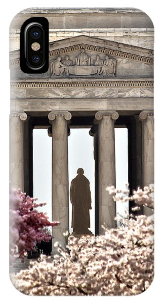 Jefferson Memorial iPhone Case - Thomas Jefferson by Mitch Cat