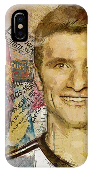 Borussia Dortmund iPhone Case - Thomas Muller by Corporate Art Task Force