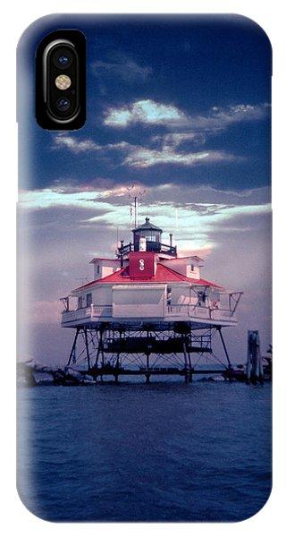 Thomas Pt.  Shoal Lighthouse IPhone Case