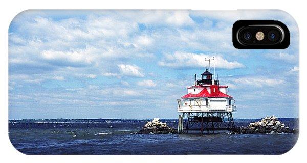 Thomas Point Shoal Lighthouse IPhone Case