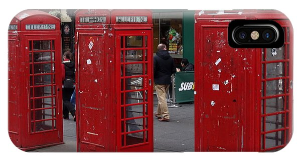 Those Red Telephone Booths IPhone Case