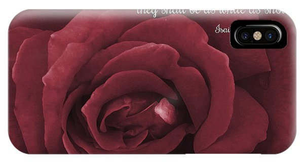 Though Your Sins Be As Scarlet Red Rose IPhone Case