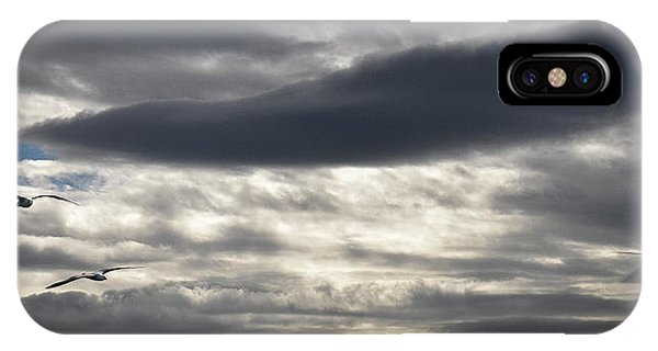 Panorama iPhone Case - Threatening Clouds by Thierry Lagandr?? (transgressed
