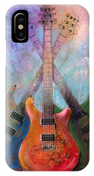 Electric Guitar iPhone Case - Three Amigos by Andrew King