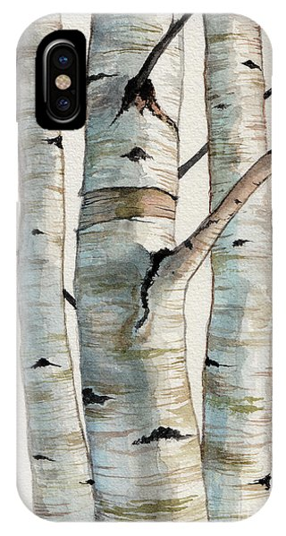 Three Birch Trees IPhone Case