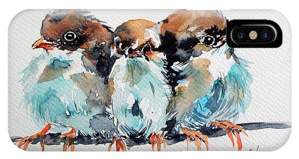 Wild Life iPhone Case - Three Birds by Kovacs Anna Brigitta