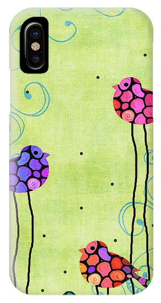 Bluebird iPhone Case - Three Birds - Spring Art By Sharon Cummings by Sharon Cummings