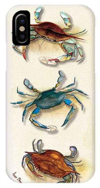 Three Blue Crabs IPhone Case