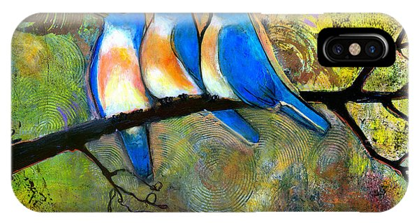 Bluebird iPhone Case - Three Little Birds - Bluebirds by Blenda Studio