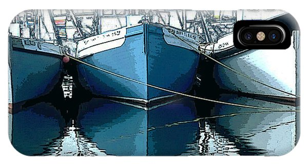 Three Boats In Blue IPhone Case