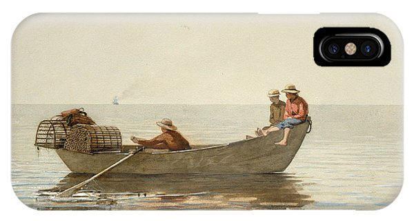 iPhone Case - Three Boys In A Dory With Lobster Pots by