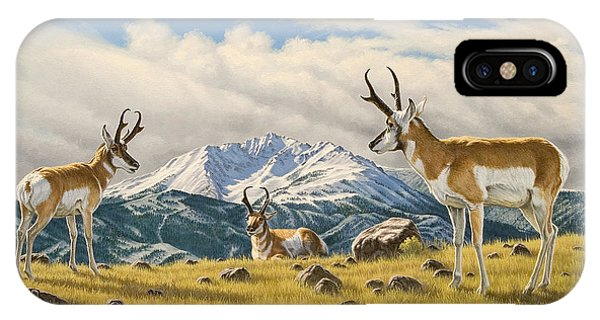 Buck iPhone Case - Three Bucks On The Ridge by Paul Krapf