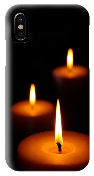 Fire iPhone Case - Three Burning Candles by Johan Swanepoel