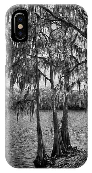 Wakulla iPhone Case - Three Cedars by Jurgen Lorenzen