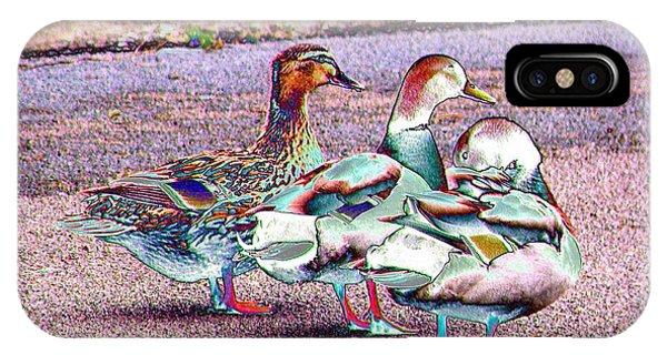 Duck-duck-duck IPhone Case
