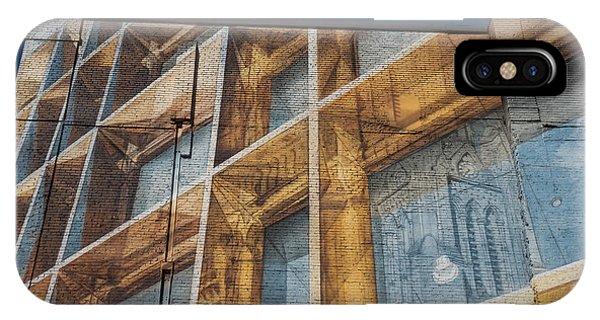 Three Dimensional Optical Illusions - Trompe L'oeil On A Brick Wall IPhone Case