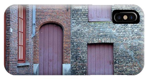 Three Doors And Two Windows Bruges, Belgium IPhone Case