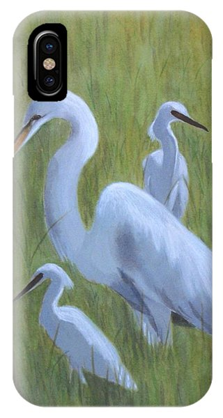 Three Egrets  IPhone Case