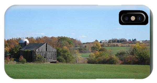 Three Farms In Autumn IPhone Case