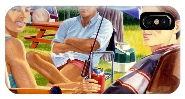 Three Friends Camping IPhone Case