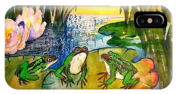 Three Frogs IPhone Case