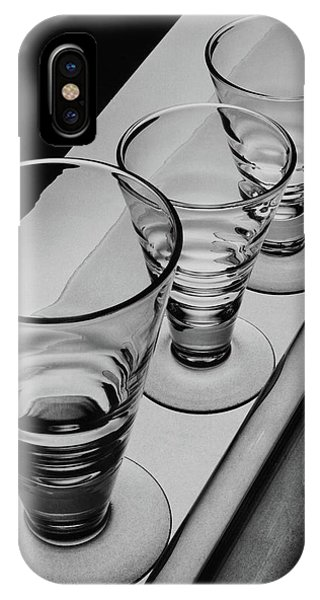 Three Glasses On A Shelf IPhone Case