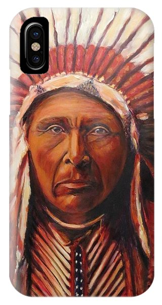 Three Horses, Native American  IPhone Case