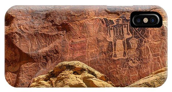 Three Kings Petroglyph - Mcconkie Ranch - Utah IPhone Case