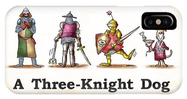Three Knight Dog IPhone Case